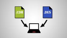 CorelDRAW dosyalarını açma