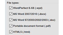 Birden fazla formatta kaydetme