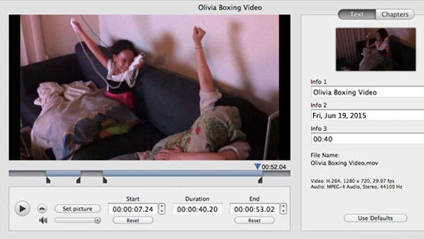 Video kliplerini ayıklayın ve düzenleyin