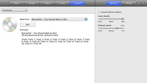 iPad için CD'deki sesli kitapları kaydedin