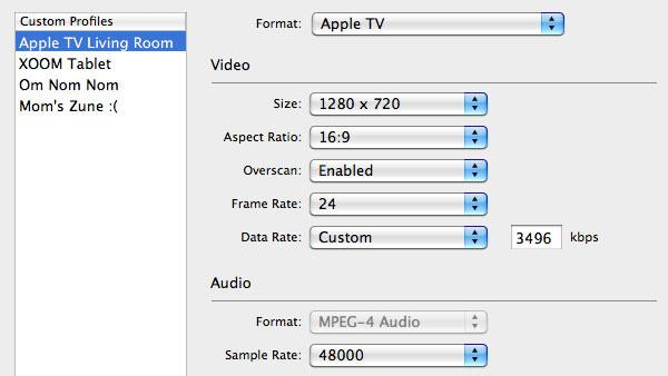 Özel video profilleri ve hazırsetleriyle zamandan tasarruf edin