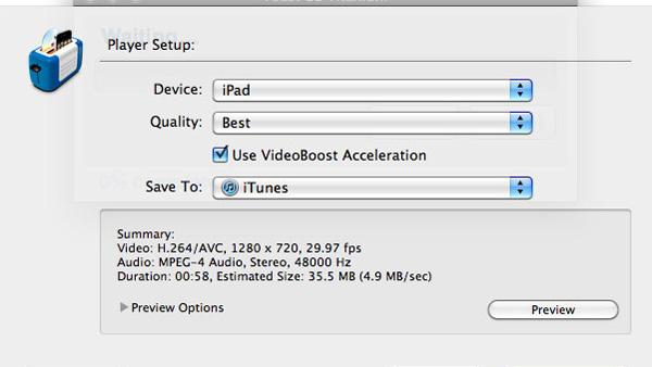 Videoyu iPad veya iPhone için dönüştürün