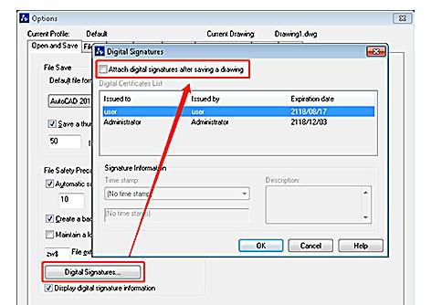 DWG Dosyalarında Dijital İmza